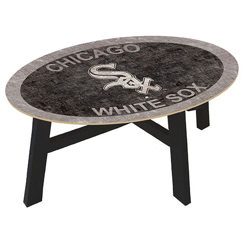 Chicago White Sox Logo Coffee table with team color