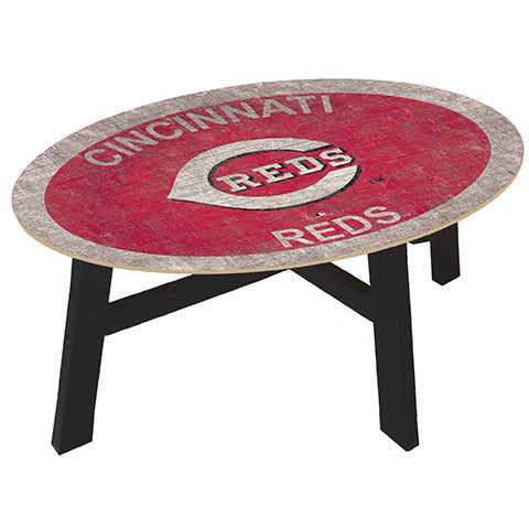 Cincinnati Reds Logo Coffee table with team color