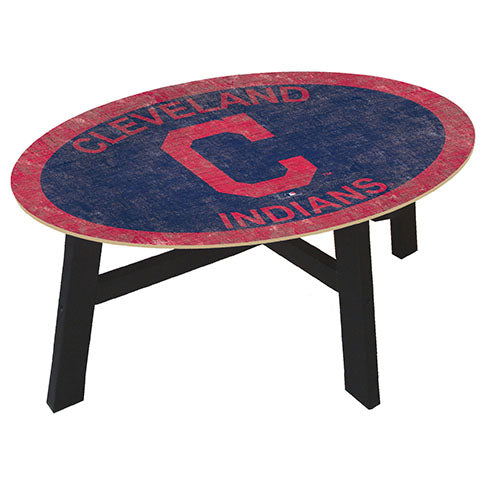 Cleveland Indians Logo Coffee table with team color