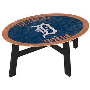 Detroit Tigers Logo Coffee table with team color
