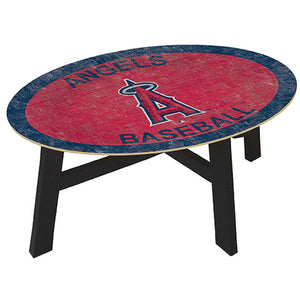 Los Angeles Angels Logo Coffee table with team color