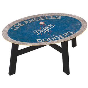 Los Angeles Dodgers Logo Coffee table with team color