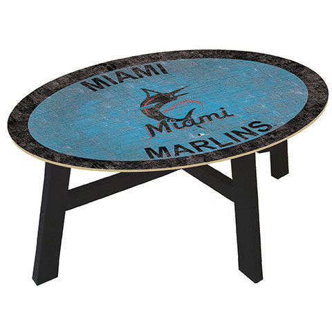 Miami Marlins Logo Coffee table with team color
