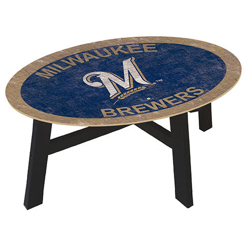 Milwaukee Brewers Logo Coffee table with team color