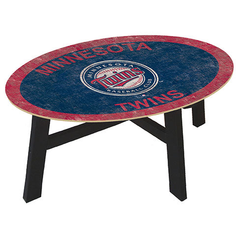 Minnesota Twins Logo Coffee table with team color