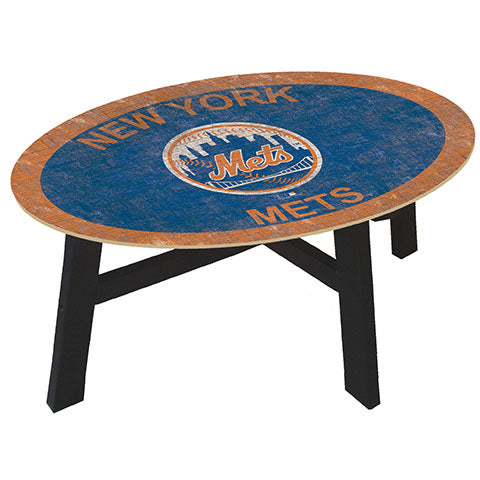 New York Mets Logo Coffee table with team color