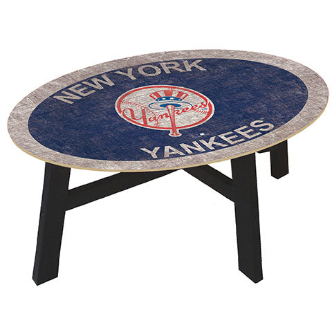New York Yankees Logo Coffee table with team color