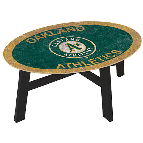 Oakland Athletics Logo Coffee table with team color