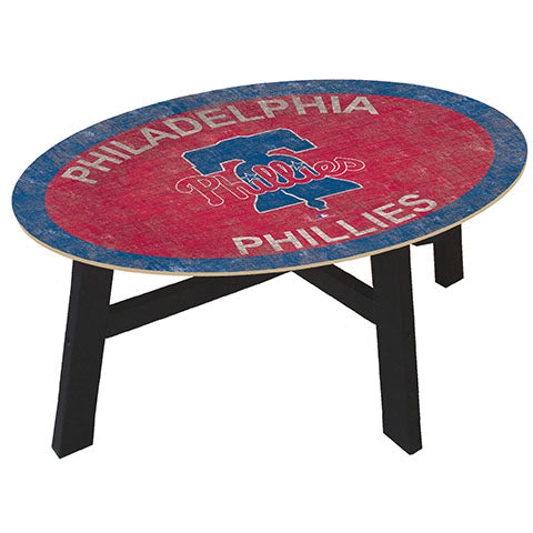 Philadelphia Phillies Logo Coffee table with team color