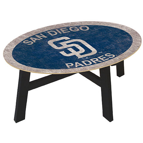 San Diego Padres Logo Coffee table with team color