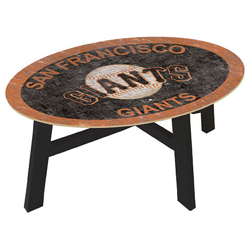 San Francisco Giants Logo Coffee table with team color