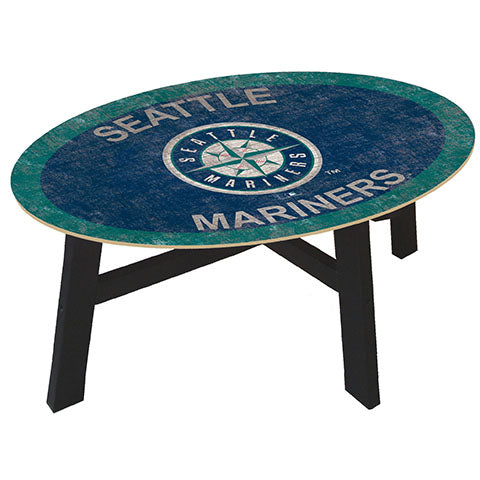 Seattle Mariners Logo Coffee table with team color
