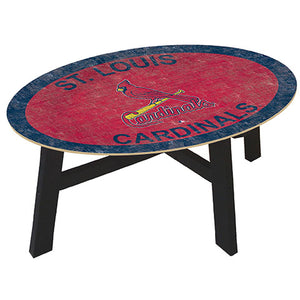 Saint (St.) Louis Cardinals Logo Coffee table with team color