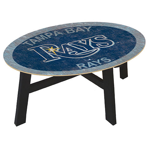 Tampa Bay Rays Logo Coffee table with team color