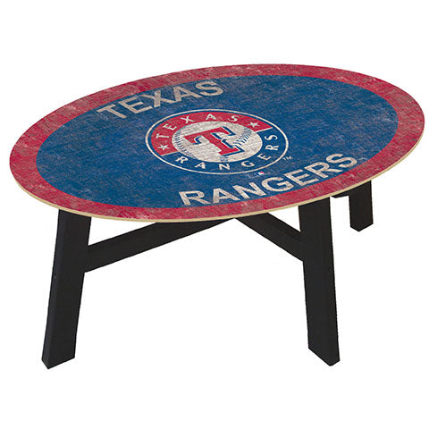 Texas Rangers Logo Coffee table with team color