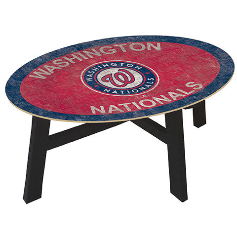Washington Nationals Logo Coffee table with team color