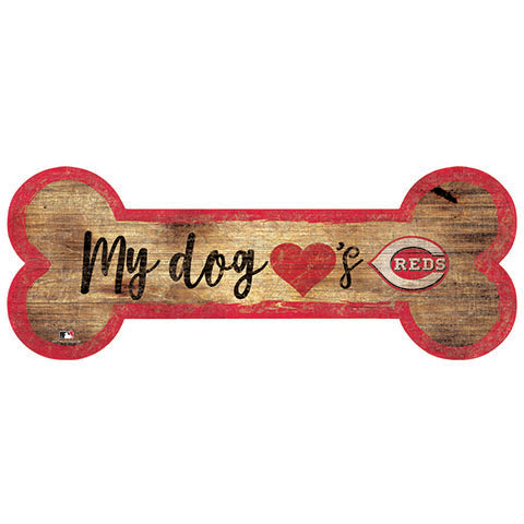 Cincinnati Reds Dog Bone Sign