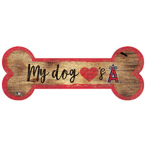 Los Angeles Angels Dog Bone Sign