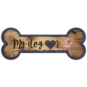 New York Yankees Dog Bone Sign