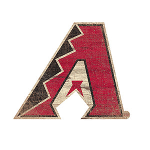 Arizona Diamondbacks Distressed Logo Cutout Sign