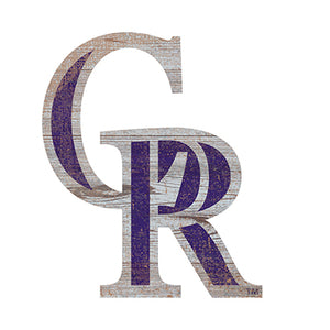 Colorado Rockies Distressed Logo Cutout Sign