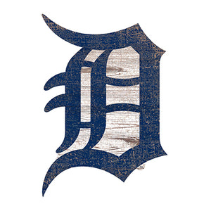 Detroit Tigers Distressed Logo Cutout Sign