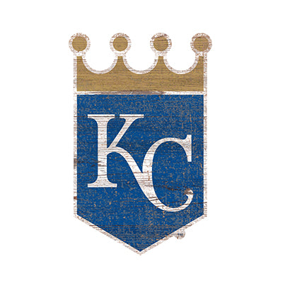 Kansas City Royals Distressed Logo Cutout Sign