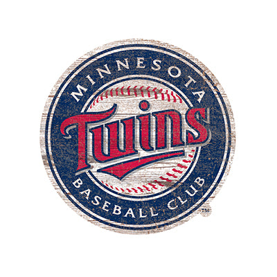 Minnesota Twins  Distressed Logo Cutout Sign