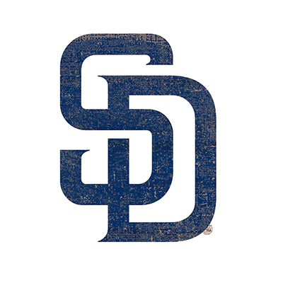 San Diego Padres Distressed Logo Cutout Sign