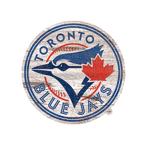 Toronto Blue Jays Distressed Logo Cutout Sign