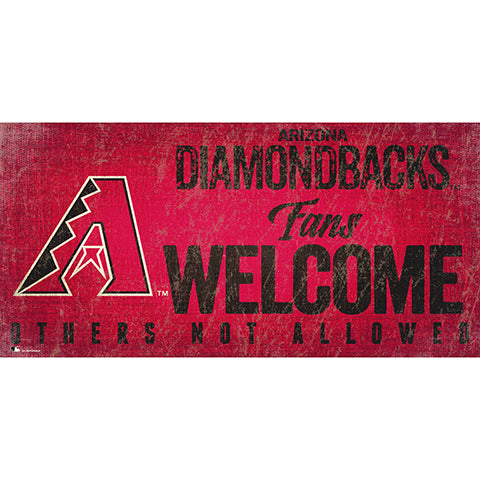 Arizona Diamondbacks Fans Welcome 6x12 Sign