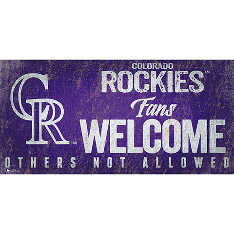 Colorado Rockies Fans Welcome 6x12 Sign
