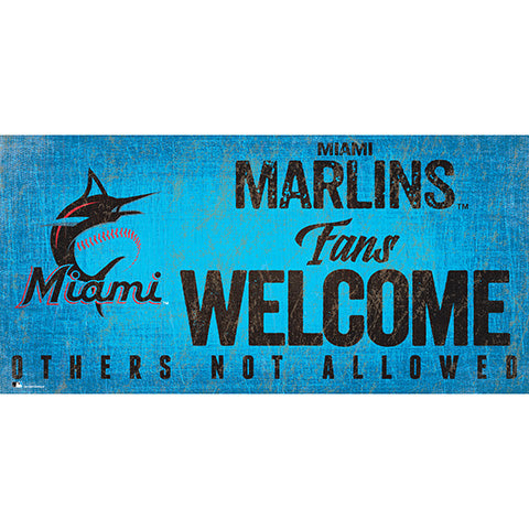 Miami Marlins Fans Welcome 6x12 Sign