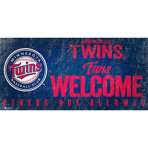 Minnesota Twins Fans Welcome 6x12 Sign