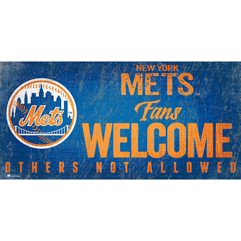 New York Mets Fans Welcome 6x12 Sign