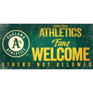 Oakland Athletics Fans Welcome 6x12 Sign