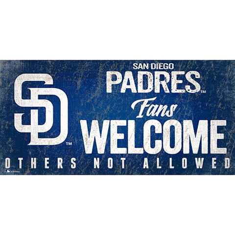 San Diego Padres Fans Welcome 6x12 Sign