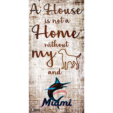 Miami Marlins A House is not a Home Sign