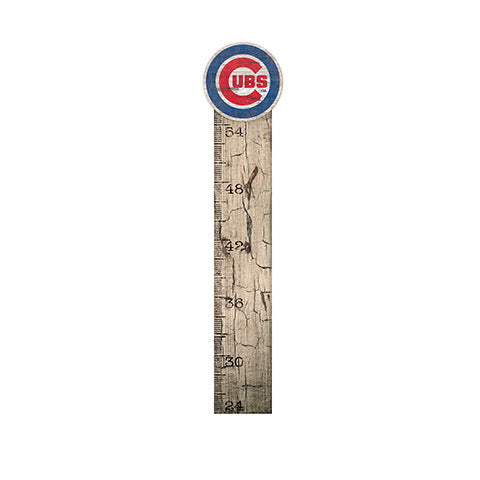Chicago Cubs Growth Chart Sign 6x36