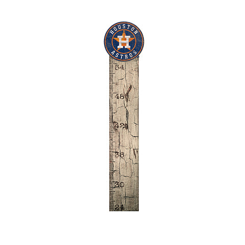 Houston Astros Growth Chart Sign 6x36