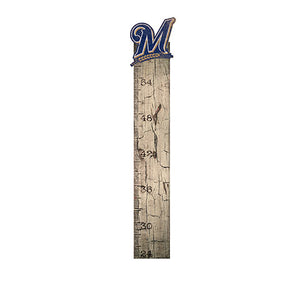 Milwaukee Brewers Growth Chart Sign 6x36