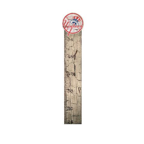 New York Yankees Growth Chart Sign 6x36