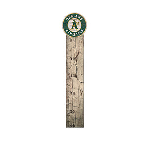 Oakland Athletics Growth Chart Sign 6x36