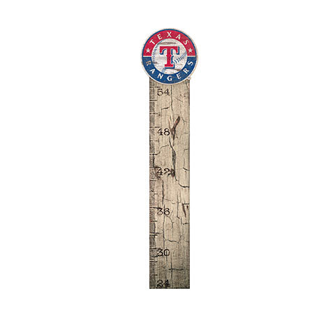 Texas Rangers Growth Chart Sign 6x36