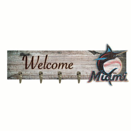 Miami Marlins Coat Hanger 6x24