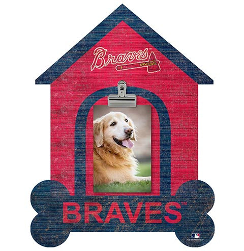 Atlanta Braves Dog Bone House Clip Frame