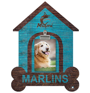 Miami Marlins Dog Bone House Clip Frame