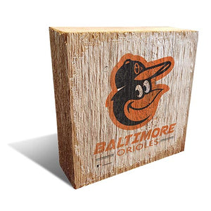 Baltimore Orioles Team Logo Block 6X6
