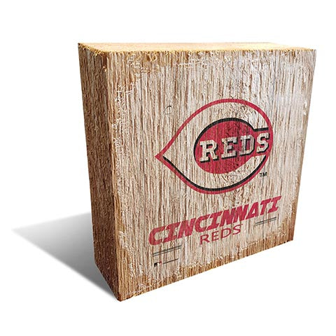 Cincinnati Reds Team Logo Block 6X6