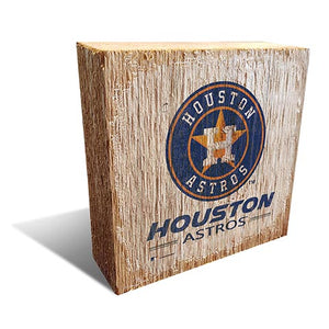 Houston Astros Team Logo Block 6X6